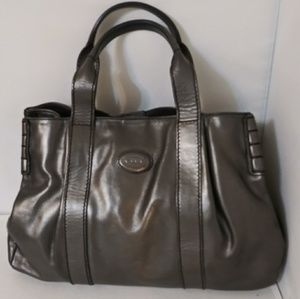 TOD'S Grey Leather Tote